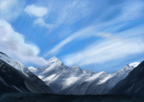 Snow mountain by Sycreon