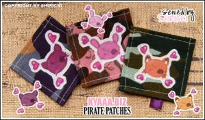 Pirate Patches Cat Bunny Fox by shiricki