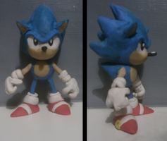 Sonic The Hedgehog Model (Very Rough Attempt) by FierceTheBandit