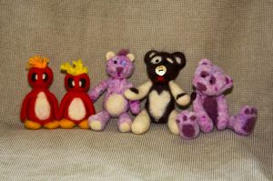 Needle Felted Group 01 by KM-Galleries