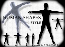 photoshop human shapes part1 by feniksas4