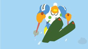 Blizzard Man Minimalist Wallpaper by Oldhat104