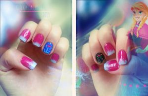 Anna Nails from Disney Frozen by CubaylaLuna