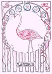 Art Nouveau Flamingo by Goats-On-A-Boat