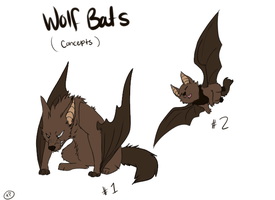 Wolfbat concepts by Tinnypants