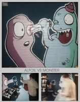 Alfoil VS Monster colage by Monster-one