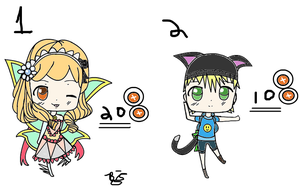 Chibi Adopts: Fairy + Kitty Boy (CLOSED!!) by Balance-Song