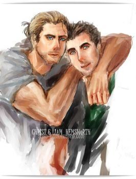 Chris and Liam Hemsworth by foreveralone2555