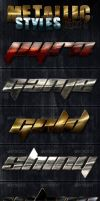 Metallic Photoshop Styles - Part 4 by survivorcz