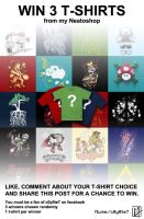 WIN 3 T-SHIRT facebook contest by C0y0te7