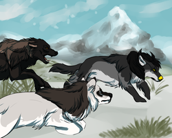 Wolf pack YCH by WulfTheWolf