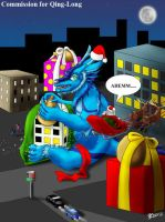 COM : Qing Long preparing a special Christmas Gift by whiteguardian