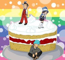 Apollo Justice: Cake Chibis by jewelschan