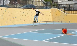 The Skateboarder On the Rail 5 by Miss-Tbones
