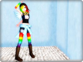 ~MMD Newcomer - TDA Rainbow Dash ~ DL Taken Down ~ by KeniaOsu