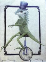 Fancy Lizard On A Unicycle by RavenTheAngelofDarkn