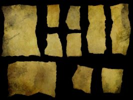 Torn Paper - Small Yellowed 3 by struckdumb