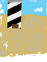 lighthouse in the dunes by Dashmaster5000