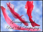 Red Silk Drapes by GRANNYSATTICSTOCK