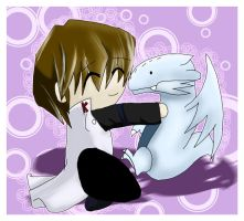 Kaiba loves Blue Eyes by Killr-Kitty249