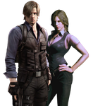 Leon S Kennedy And Helena Harper Png  by VampireHelenaHarper