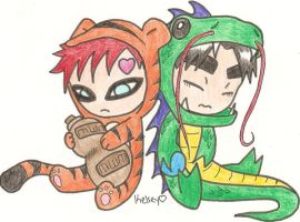 Gaara and Lee by Nekoori