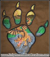 Water Dragon Embroidery by RedheadThePirate