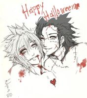 Zack and Cloud - Halloween by oOo-KupoCoffee-oOo