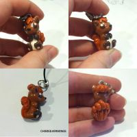 Vulpix Charm by ChibiSilverWings