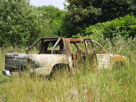 Burnt out car stock 1 by Sequeena-stock