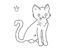 Cat lineart, paint friendly by PointAdoptiez