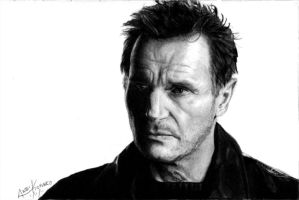 Liam Neeson by andique