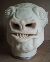 Snaggletooth Latex Mask  WIP by lionback