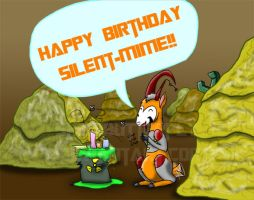 Happy birthday Silent-mime! by Shirobutterfly