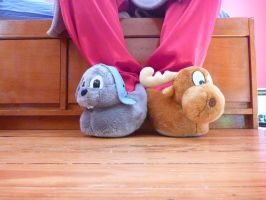 Rocky and Bullwinkle Slippers by ExileLink