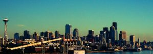 seattle cityscape by Jess2Lucky