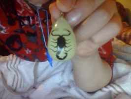 Black scorpion necklace by Me-MowTheCat