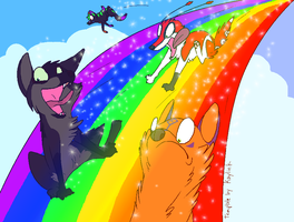 TOUCH THE RAINBOW by BananaFlavoredShroom