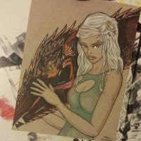 Dany and Drogon by Wicked-Texan