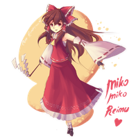Touhou : Miko Miko Reimu by ClearEchoes