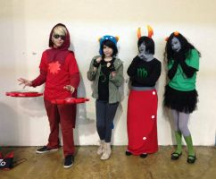 Homestuck-Kanaya, Meulin, Nepeta and Dave Cosplay2 by DaisukeCosplay