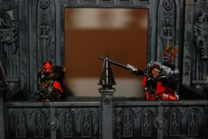 WH40K SoB Flamer and Canoness by Czethros