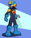 New Rockman.exe Drawing by Zhen-Chan