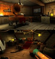 Interior sailboat level by gorverius