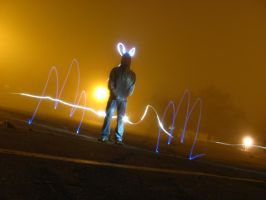 Light Graffiti: Multiple Lightsource Practice by mik3andik3xD