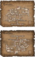 Castlevania: SotN Fancy map by Billysan291