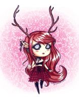 Kat's Adoptable Faun Scarlet Colored -SOLD- by OtakuEC