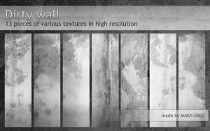 TEXTURES: Dirty wall by MAKY-OREL