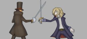 Layton vs Anthony by AetherEch0s