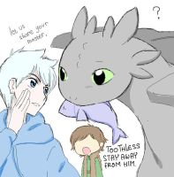 Jack with Toothless by MugenMusouka